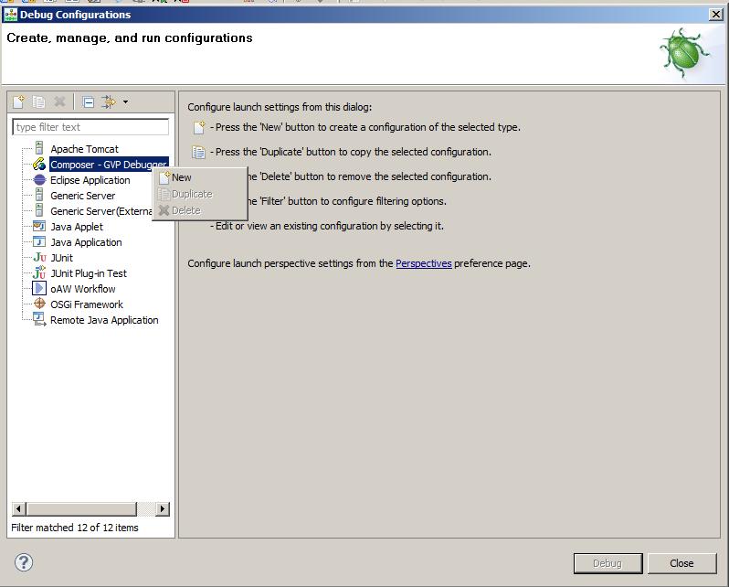 Debug Configuration