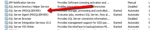 SQLServer Services