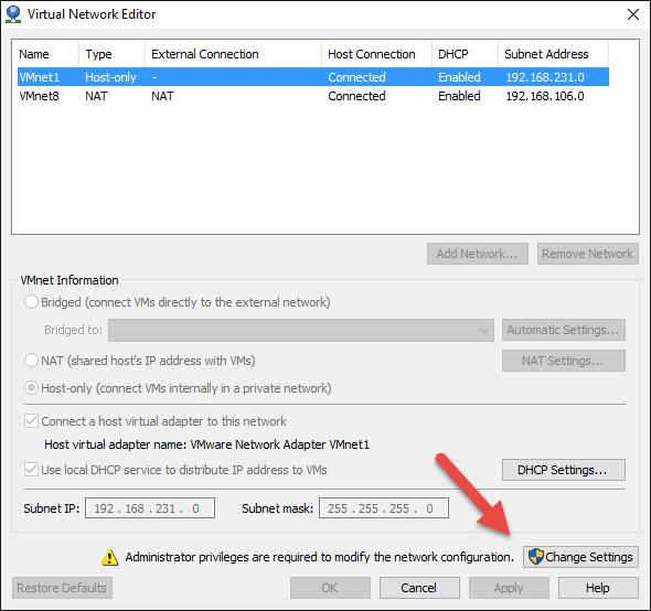 VMWare Network Editor