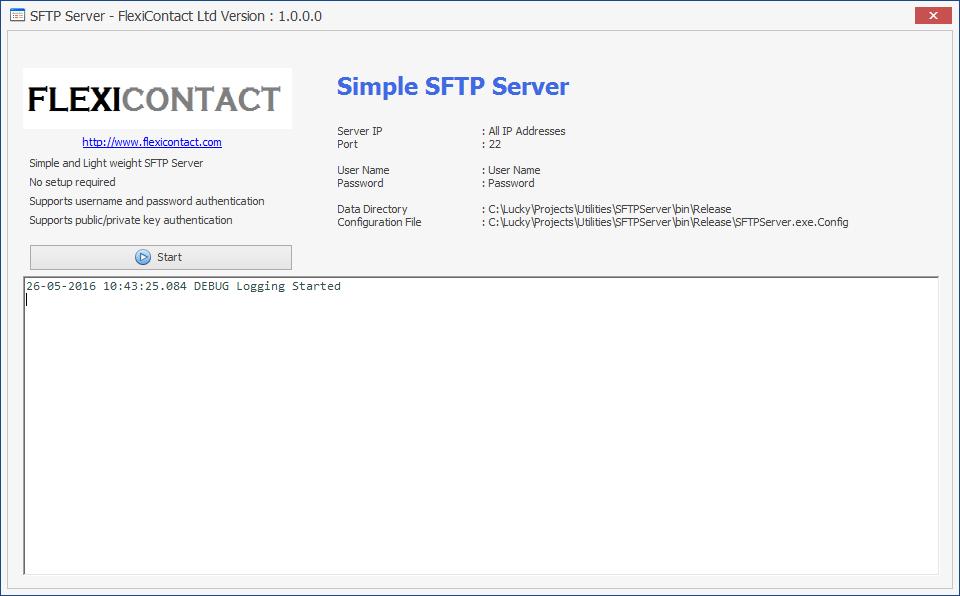 Simple SFTPServer